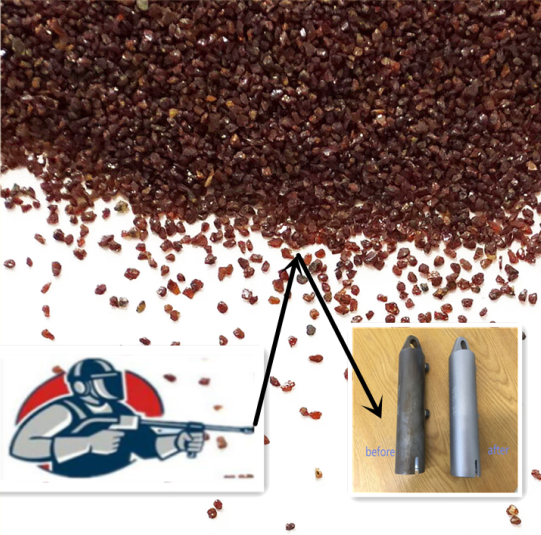 Advantages of surface blasting with garnet sand